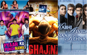 Bollywood film posters collage