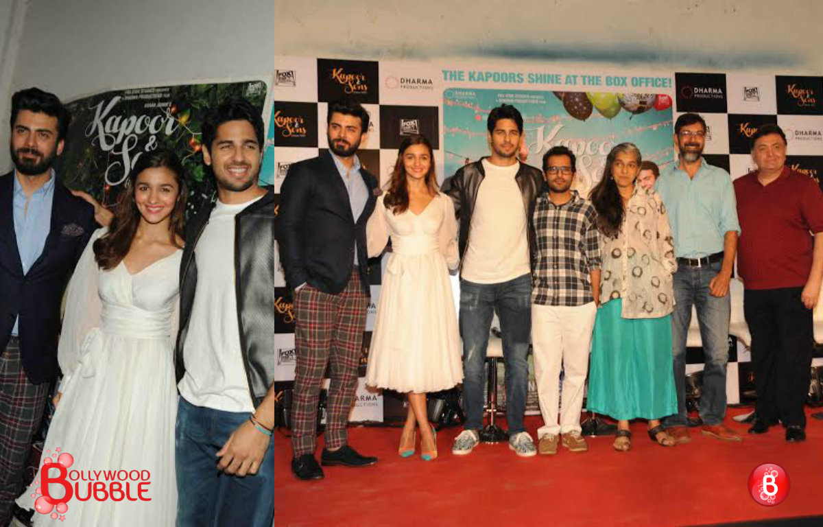 In Pictures: 'Kapoor & Sons' team celebrates the success of the film