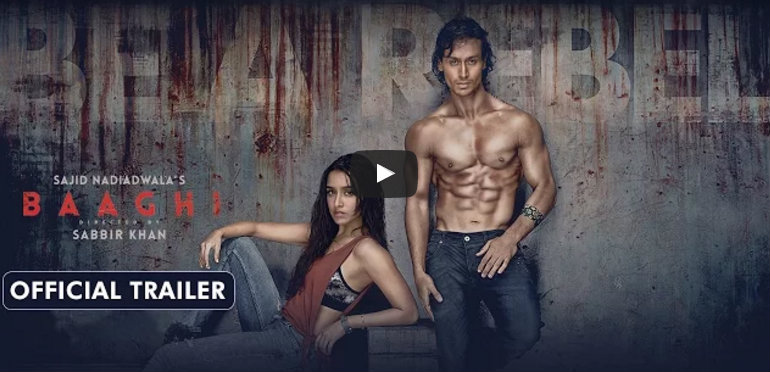 WATCH - Tiger Shroff and Shraddha Kapoor turn 'Rebels' for Love in 'Baaghi' trailer