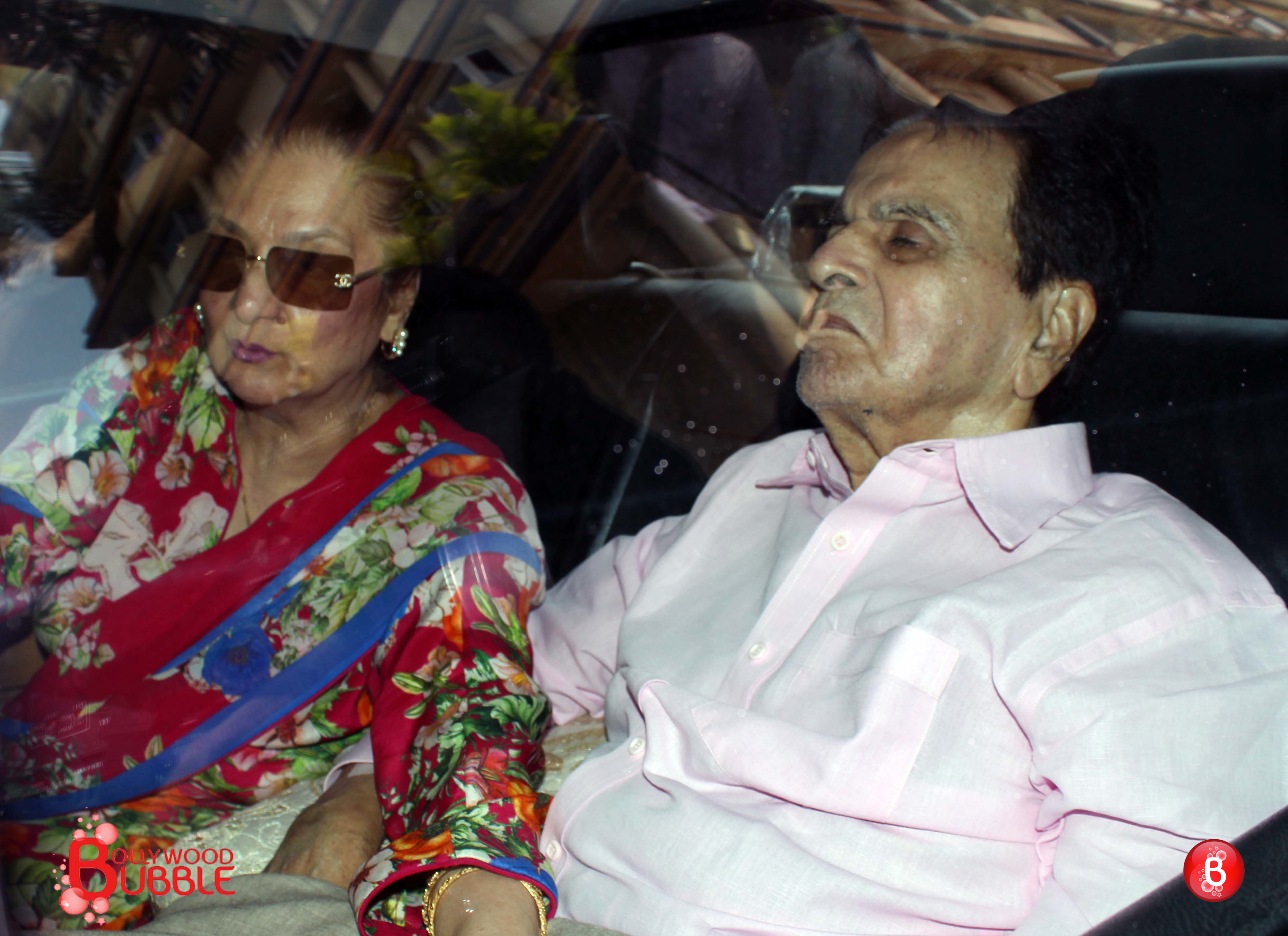 In pictures dilip kumar discharged from lilavati hospital for Saira banu granddaughter