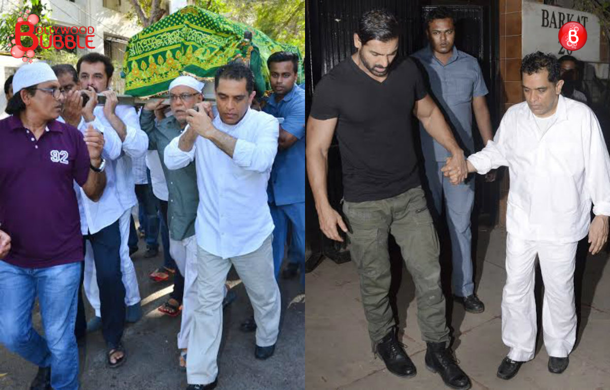Pictures: John Abraham, Paresh Rawal and others at Firoz Nadiadwala's mother's funeral