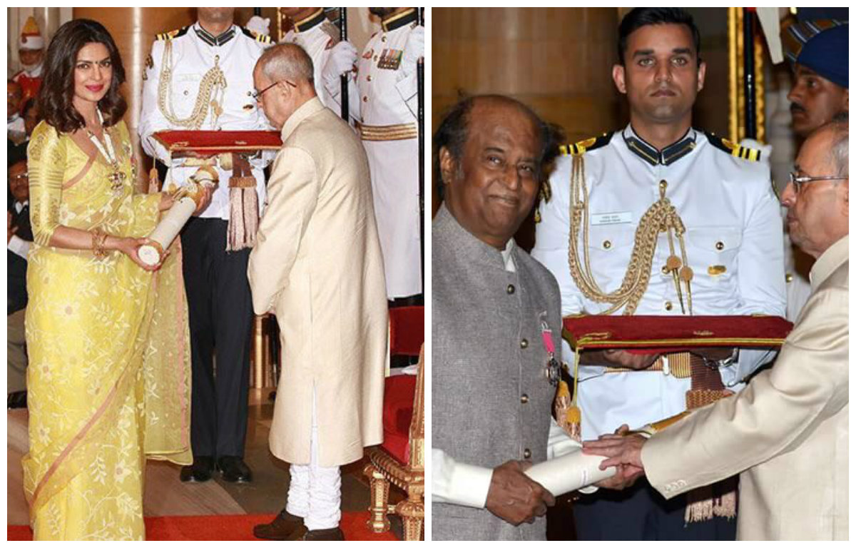 Complete List: Priyanka Chopra, Rajinikanth and others conferred with the Padma Awards