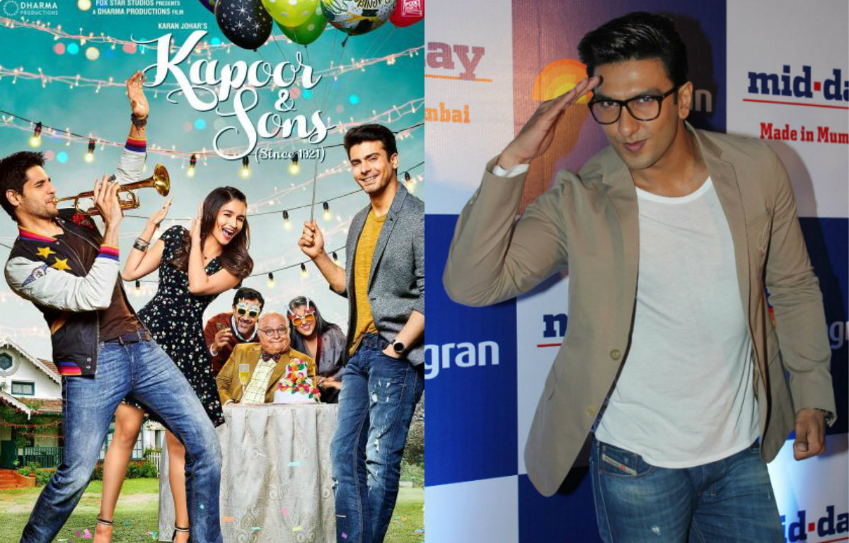 Ranveer Singh in all praises for Shakun Batra's 'Kapoor & Sons'