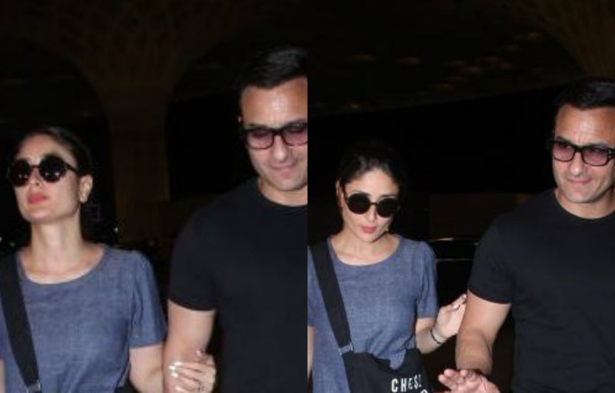 Spotted: Saif Ali Khan and Kareena Kapoor at Mumbai Airport