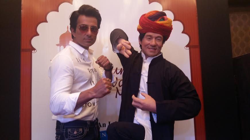Sonu Sood unveils the wax statue of Jackie Chan