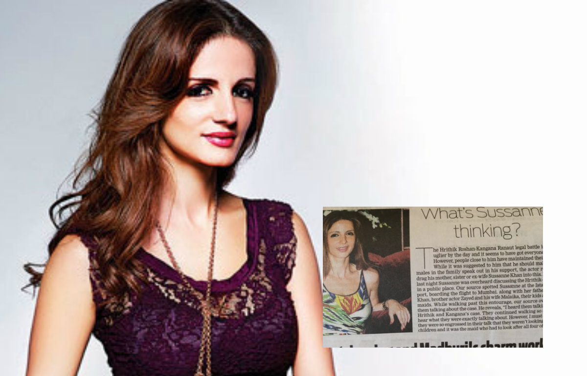 Sussanne Khan reacts to reports about her gossiping over Hrithik-Kangana's legal battle