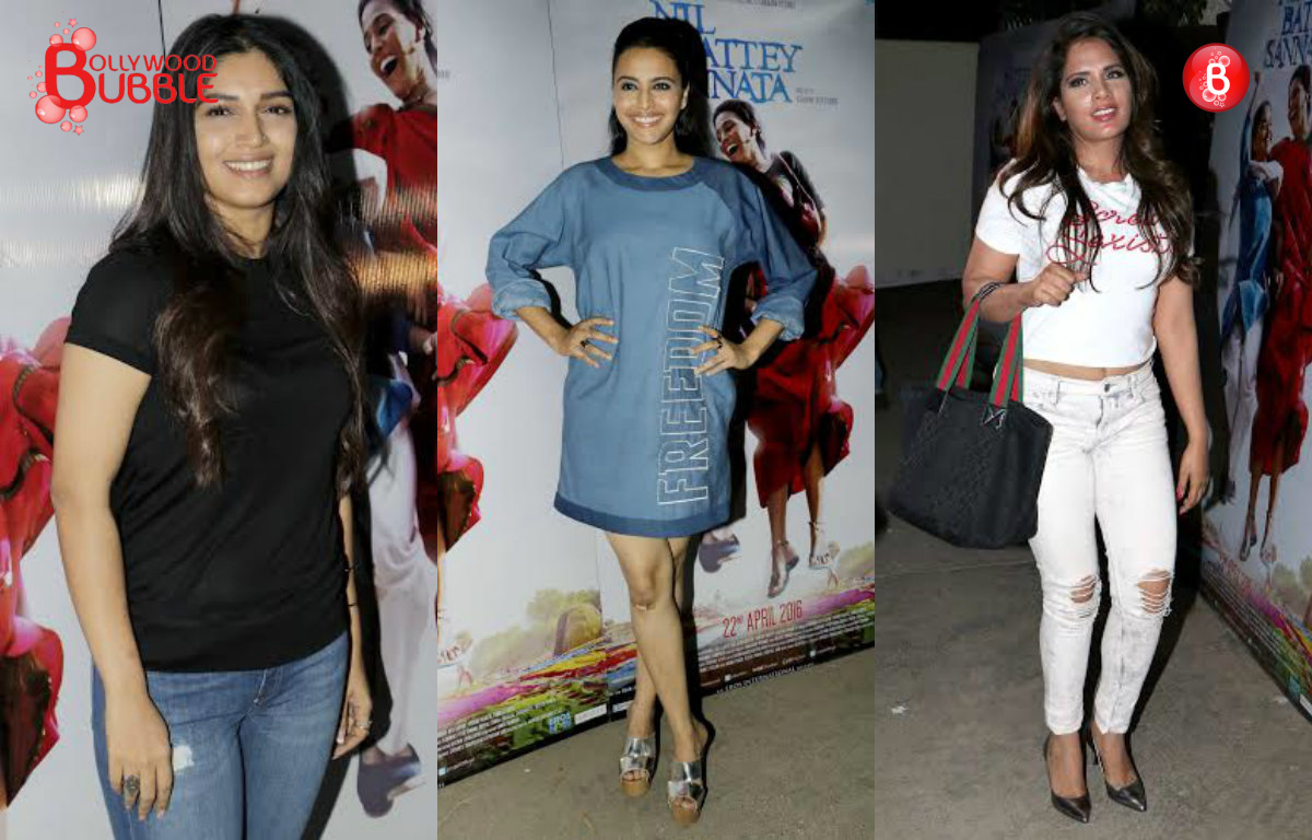 'Nil Battey Sannata': Swara Bhaskar, Richa Chadha, Bhumi Pednekar and others at special screening