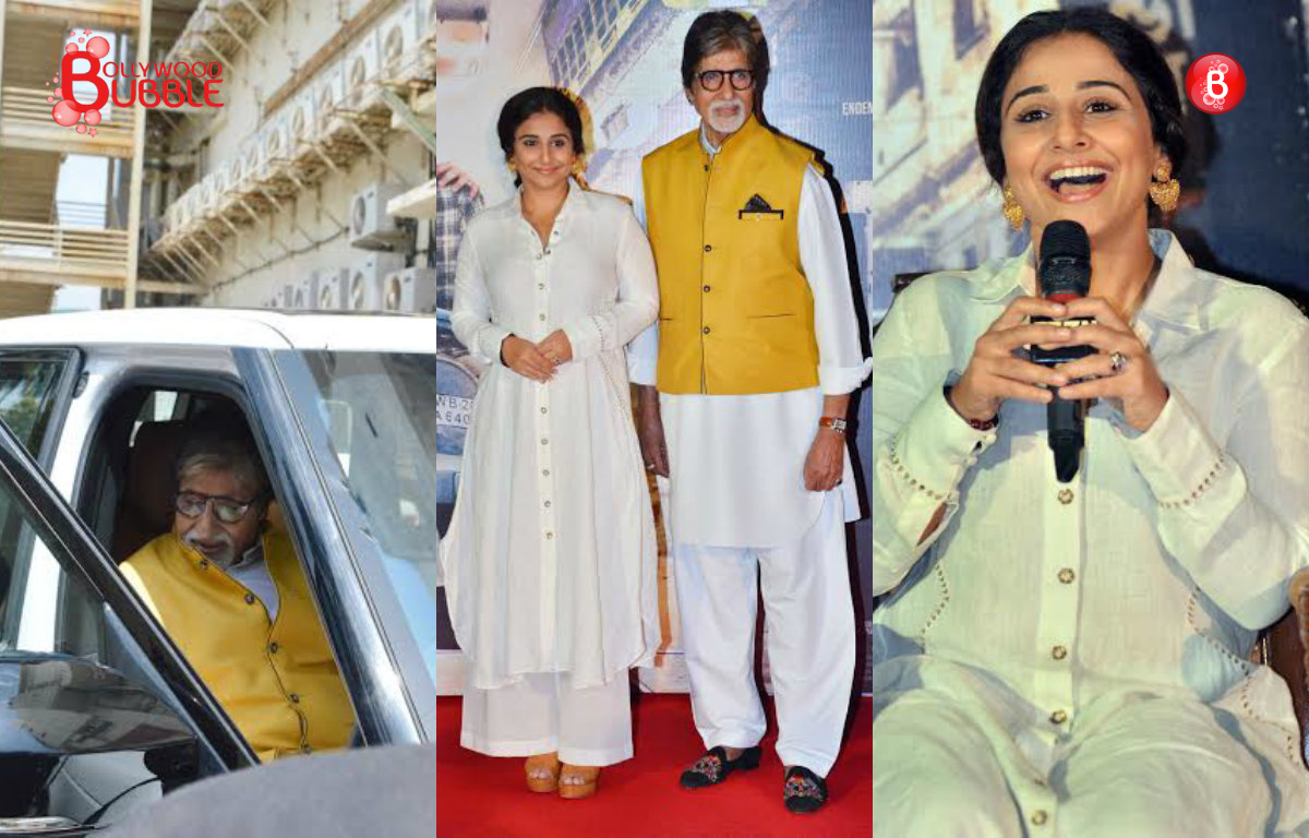 PICS: Amitabh Bachchan, Vidya Balan and makers of 'TE3N' launch trailer