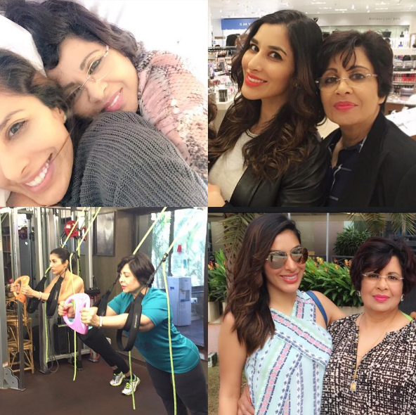 Sophie Choudry with Yasmin Choudry
