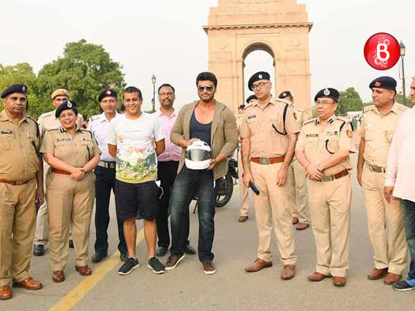 Arjun Kapoor and Chetan Bhagat attend Road Safety Awareness Campaign in Delhi