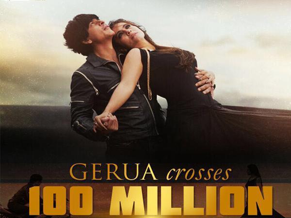 Shah Rukh Khan and Kajol's 'Gerua' crosses 100 million views on YouTube