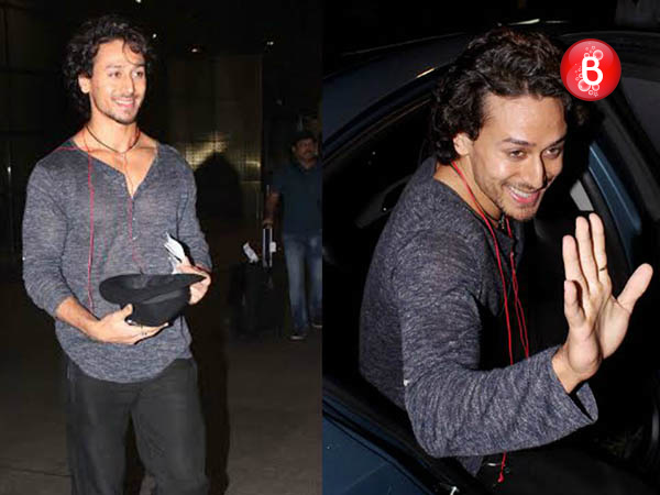 PICS: Tiger Shroff spotted at airport returning from Madrid after IIFA 2016