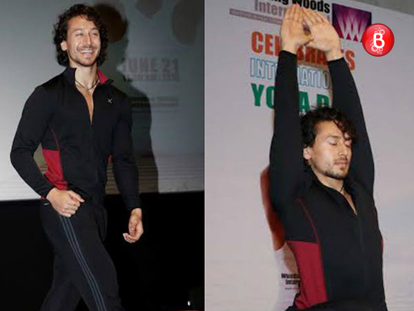 PICS: Tiger Shroff celebrates International Yoga Day at Whistling Woods