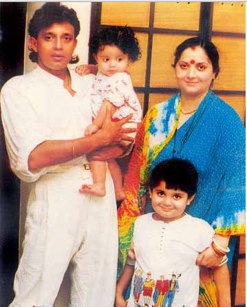 Mithun Chakraborty with Yogita Bali and kids