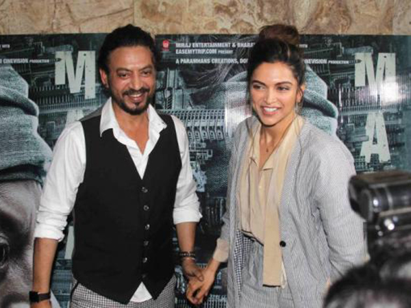 Deepika Padukone lauds Irrfan Khan's 'Madaari' to be an outstanding film