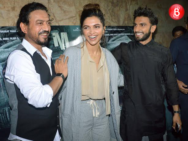 Ranveer Singh and Deepika Padukone were the showstoppers at 'Madaari' screening