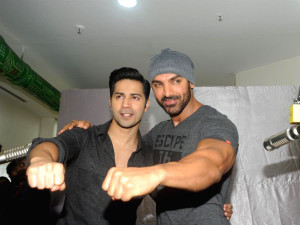 Varun Dhawan and John Abraham launch new jingle of Radio Mirchi