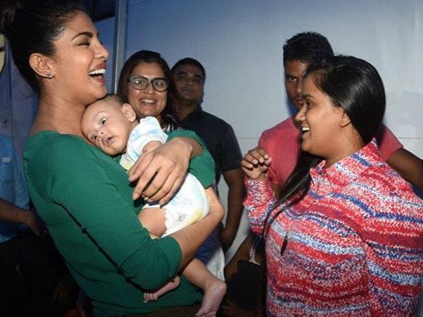 After Salman Khan, Priyanka Chopra plays with little Ahil