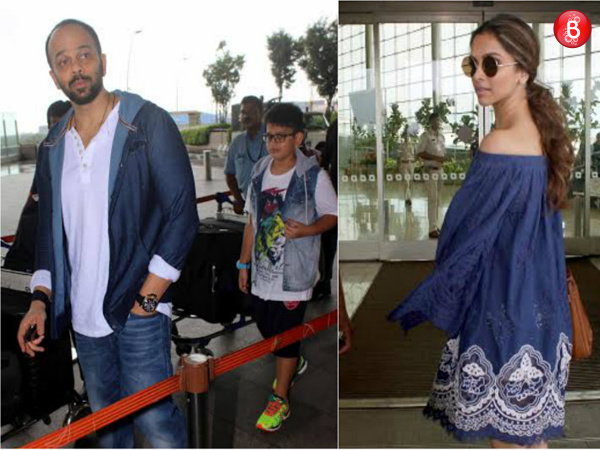 Spotted: Deepika Padukone, Rohit Shetty and other Bollywood celebs at Airport