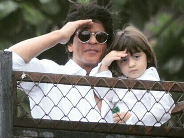 Awww! Shah Rukh Khan and AbRam's pictures from Eid celebration are damn cute