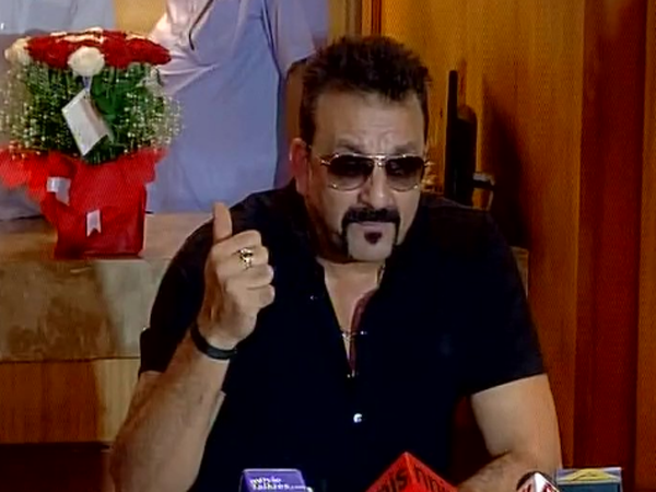 Sanjay Dutt has a rifle shaped lamp stand at home