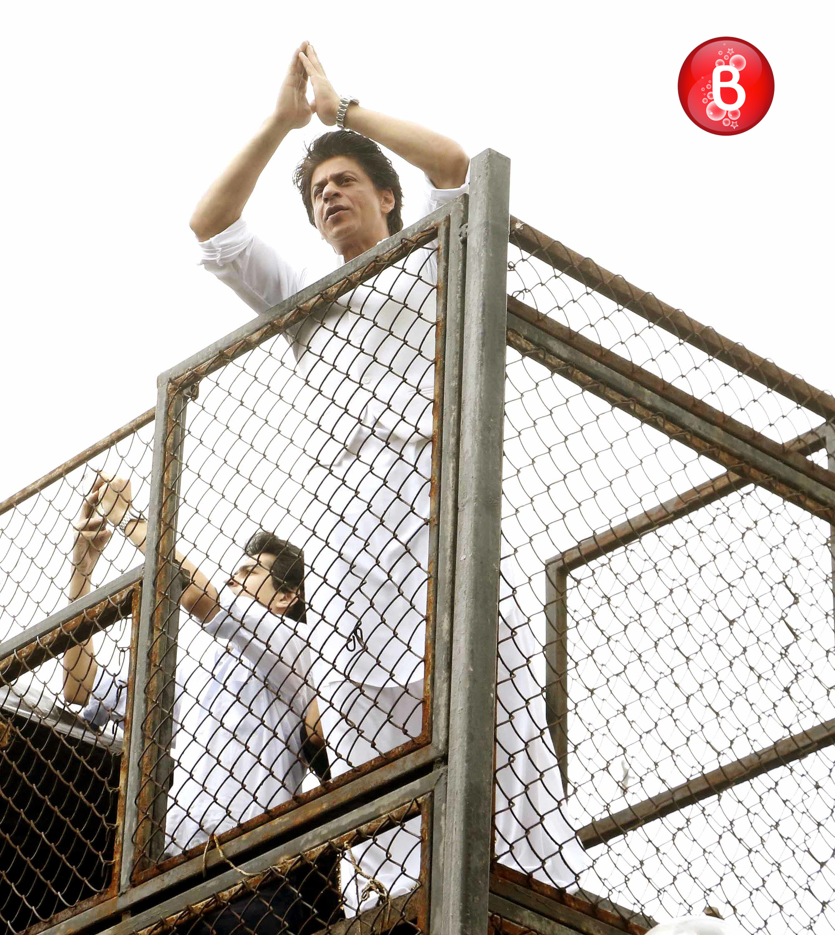 Shah Rukh Khan waves to fans