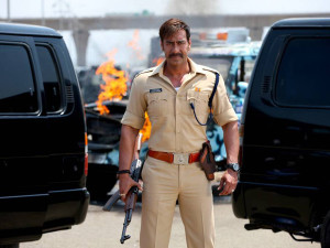 ajay devgn in Singham and Singham Returns