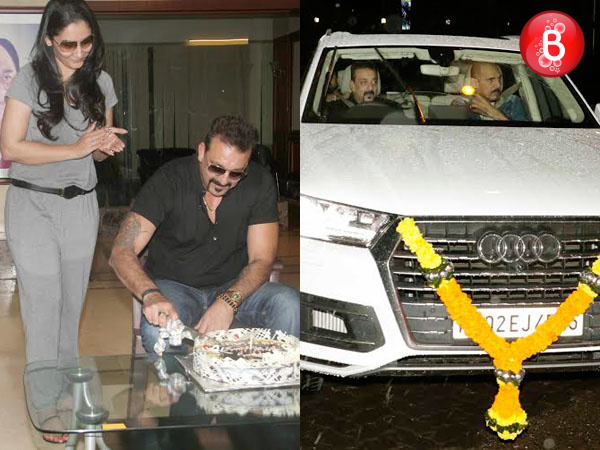 PICS: Sanjay Dutt celebrates birthday with media, takes family out for a party