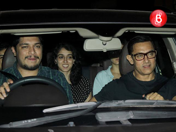 PICS: Aamir Khan watches Salman Khan's 'Sultan' with his real and reel children