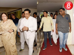 Govinda with family attends prayer meet of Krushna Abhishek's father