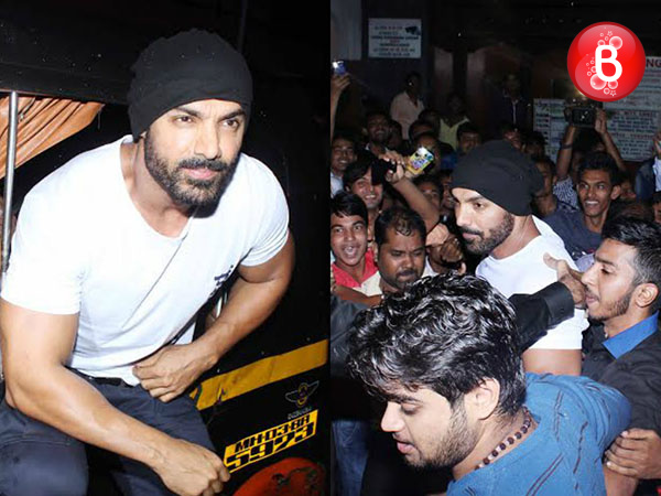 'Dishoom': John Abraham takes an auto ride to Gaiety Galaxy for audience reaction