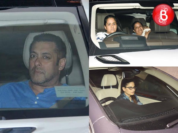 PICS: Bhaijaan Salman Khan spotted with sisters Alvira and Arpita at Lightbox