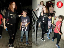 Sussanne Khan snapped with her kids at PVR Juhu