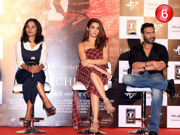 Pics: Ajay Devgn, Surveen Chawla and others at the trailer launch of 'Parched'