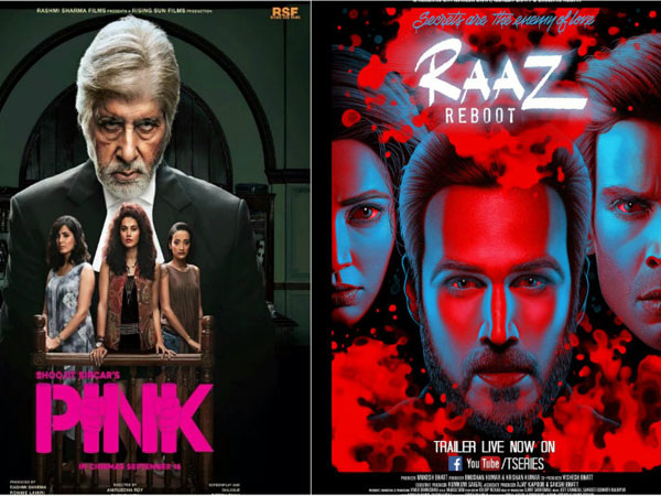 Box Office: 'PINK' holds strong over the weekend while 'Raaz Reboot' fails to deliver