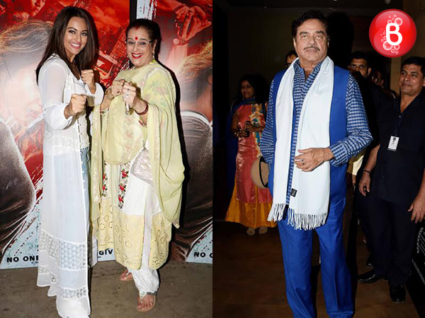PICS: Sonakshi Sinha gets into action mode with mother at the screening of 'Akira'