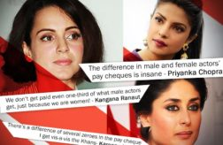 Bollywood actresses on wage gap