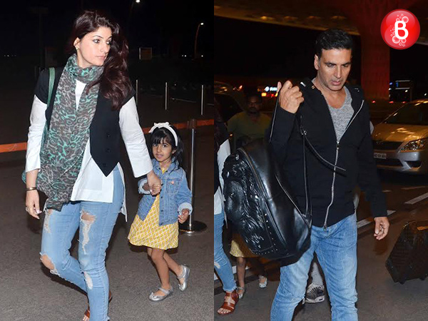 Akshay Kumar, Twinkle Khanna and kids off for a Diwali vacation to Cape Town