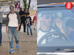 Hrithik Roshan snapped with his kids at PVR Juhu