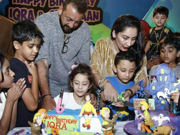Invitation card for Sanjay Dutt's twins' birthday is the most adorable thing you will see today