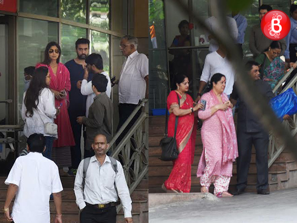 Bereaved Shilpa Shetty Kundra and Raj Kundra, mother Sunanda Shetty leave Kokilaben Hospital