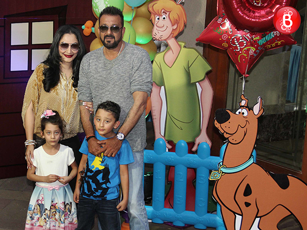 PICS: Sanjay Dutt and his sisters unite for Shahraan and Iqra's birthday party