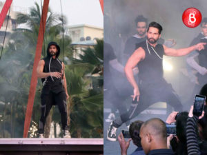 Shahid Kapoor is snapped performing at the SKULT launch