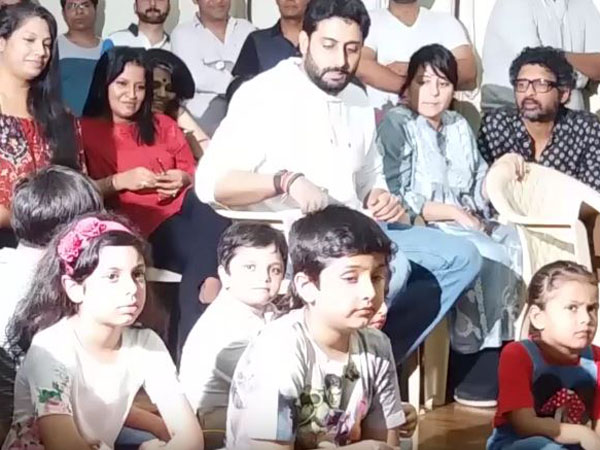 How cute! Abhishek Bachchan plays a prank with kids at a dance master class