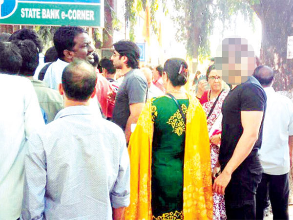 This Bollywood actor was spotted standing in a queue outside an Andheri Bank!