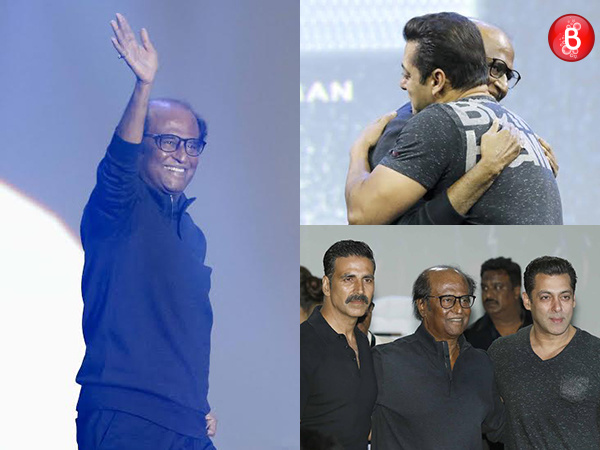 '2.0': Rajinikanth, Akshay Kumar and Salman Khan add to the magnificence of the launch event