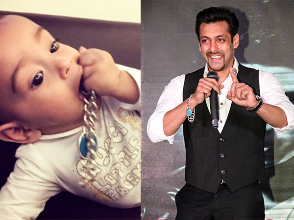 In Pictures: Baby Ahil finds a new toy in the form of Salman Khan's bracelet