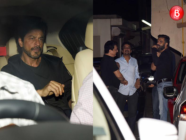 Salman Khan parties with Shah Rukh Khan and B-Town friends at Galaxy Apartments. VIEW PICS