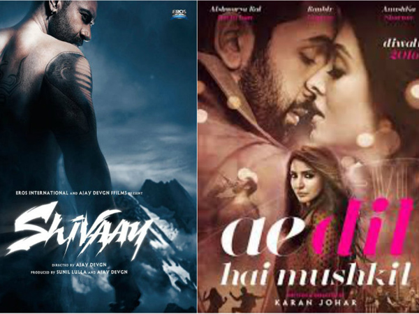 Second weekend business of 'Shivaay' and 'Ae Dil Hai Mushkil' looks decent