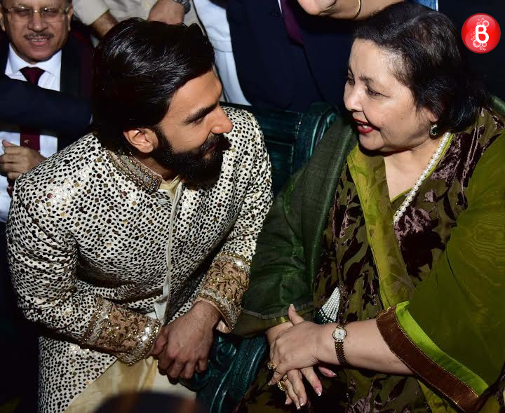 Pamela Chopra and Ranveer Singh